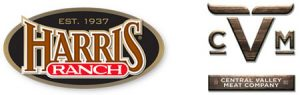 Logos for Harris Ranch & Central Valley Meat Company